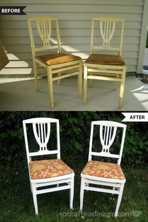 DIY Wooden Chair Makeover | spotofteadesigns.com