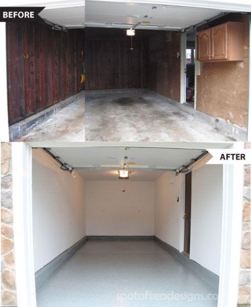 Garage makeover | spotofteadesigns.com