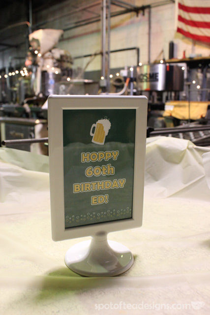 Hoppy 60th birthday sign | spotofteadesigns.com
