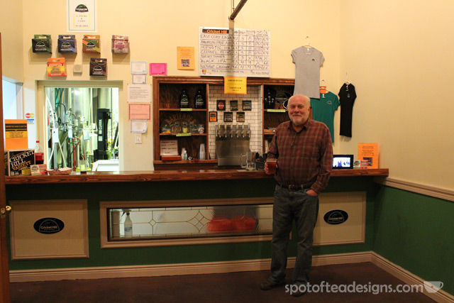 Tap room at Cricket Hill brewery | spotofteadesigns.com