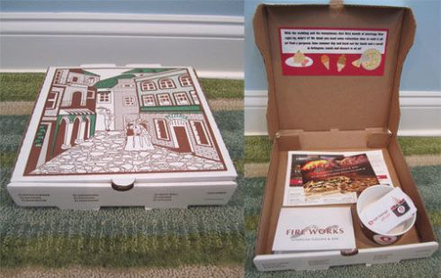 Unique GIft Wrapping Idea: Give a gift card for a pizza place inside a pizza box | spotofteadesigns.com