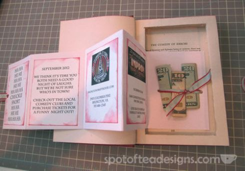 Unique Gift Wrapping Idea: Hollow out an old book and add a treasure inside | spotofteadesigns.com