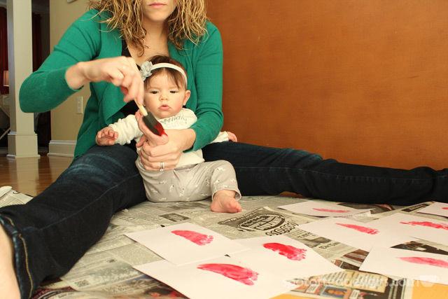 Baby Footprint Valentine's Day Cards   spotofteadesigns.com
