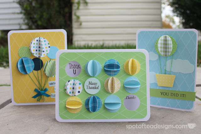 Handmade Cards using circle punches and scrap paper | spotofteadesigns.com