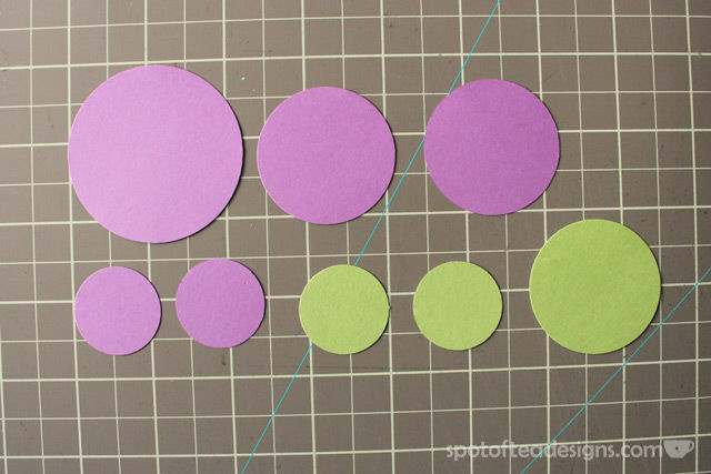 """""""Congratulations"""" handmade card using circle punches. Layer the punched shapes to make flowers 
