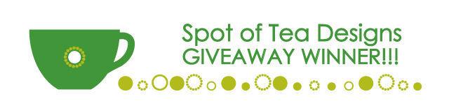 spot of tea designs giveaway winner notice