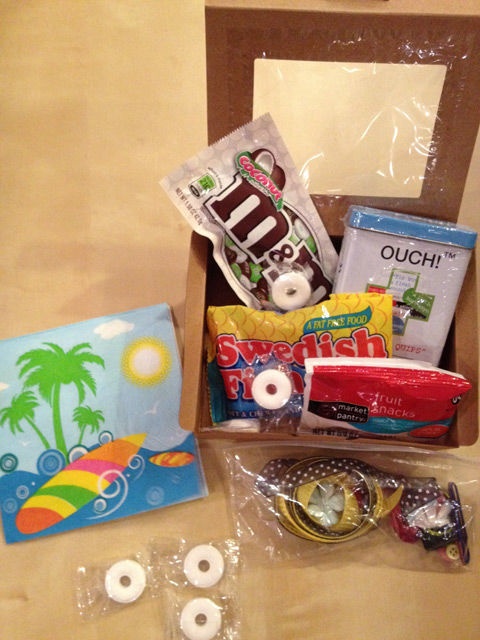 """Emergency Crafting Kit with """"castaway"""" theme as featured on spotofteadesigns.com"""