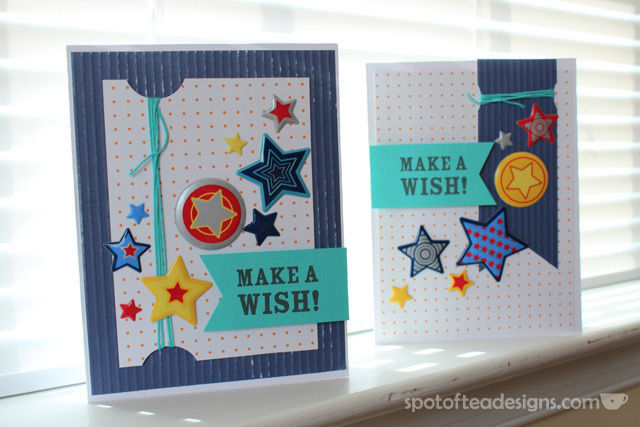 "Handmade Birthday Cards Using a ""stars and stripes"" challenge 