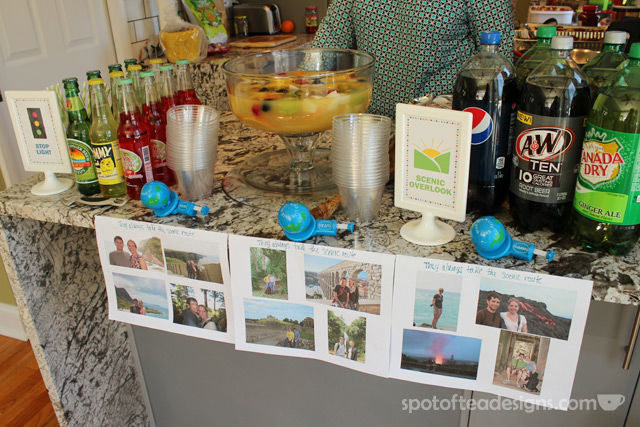 Transportation Themed Baby Shower: Drink Station | spotofteadesigns.com