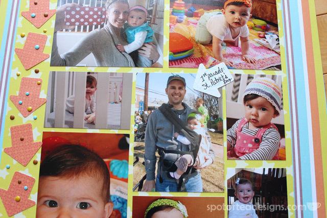 Baby Book as Scrapbook: Month 7 | spotofteadesigns.com