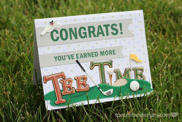 More Tee Time Handmade Retirement Card | spotofteadesigns.com