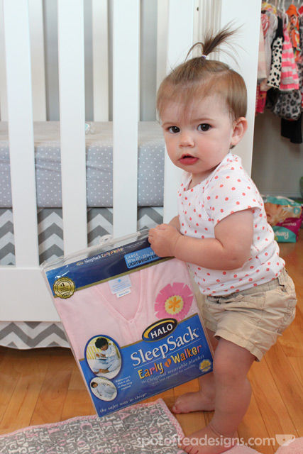 Spotofteadesigns.com reviews HALO Sleepsack Early Walker - a safe alternative to blankets | spotofteadesigns.com