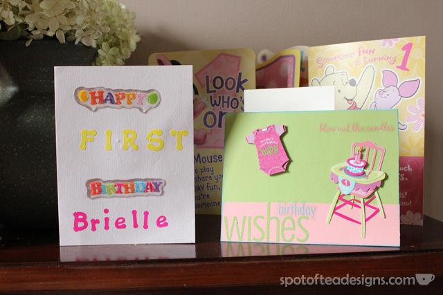 Handmade 1st birthday cards | spotofteadesigns.com