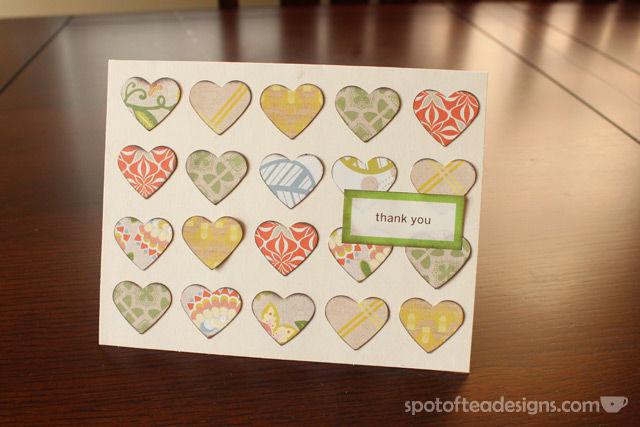 Use paper scraps to create handmade cards   spotofteadesigns.com