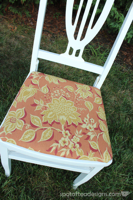 Wooden Folding Chair Makeover with Before and Afters photos | spotofteadesigns.com