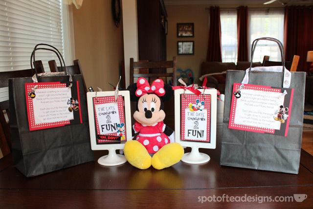 #Disney themed Countdown Calendars | spotofteadesigns.com