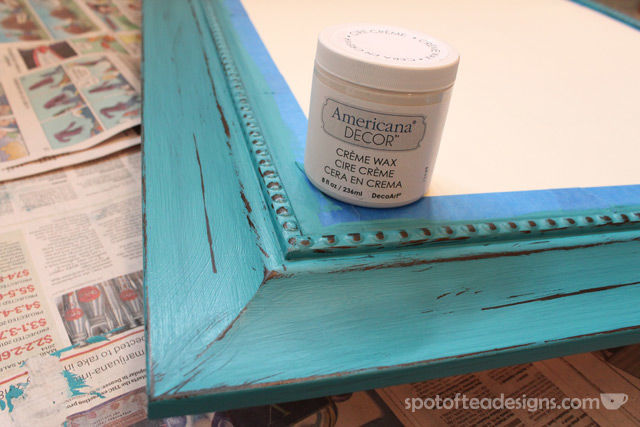 Entry Mirror Makeover with @DecoArt_Inc Americana Chalky Finish Paint | spotofteadesigns.com