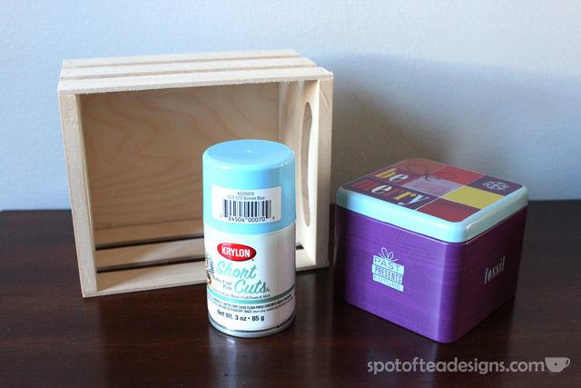 Wood Crate Snowman: a @KrylonBrand Mini Mystery Box creation | spotofteadesigns.com