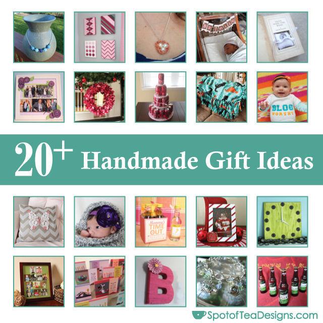 Over 20 Handmade #Gift ideas you can make for the holidays | spotofteadesigns.com