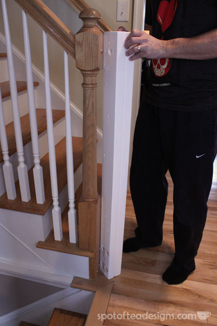 Baby Proofing: Dual Banister Gate Installation Tutorial | spotofteadesigns.com