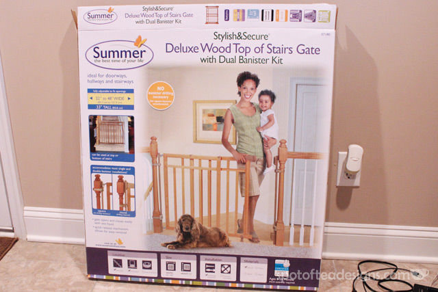 Installing a Dual Banister baby gate without ruining the banister tutorial | spotofteadesigns.com