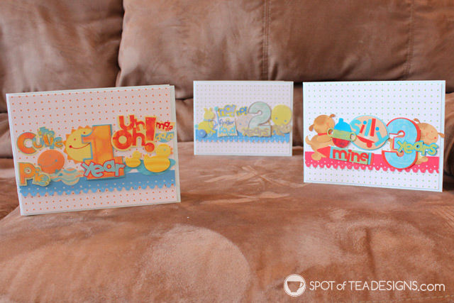 Use your paper stash challenge: sticker collages for handmade cards   spotofteadesigns.com