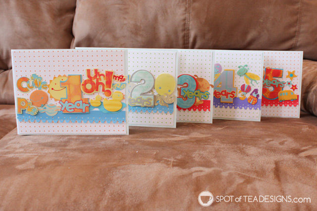Use your paper stash challenge: sticker collages for handmade cards | spotofteadesigns.com