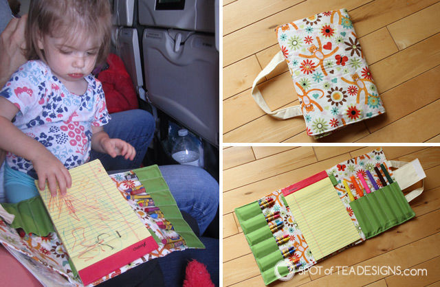 Handmade gifts for toddlers: crayon wallet featured on spotofteadesigns.com