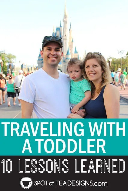 Travel with a toddler: 10 lessons learned on our first family vacation. #vacation #toddler #tips | spotofteadesigns.com