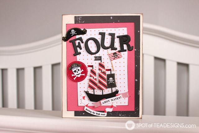 Handmade Pirate Birthday Card | spotofteadesigns.com