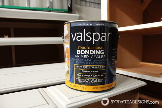 #Nursery Furniture Makeover - @Valspar_Paint Prime paint  spotofteadesigns.com