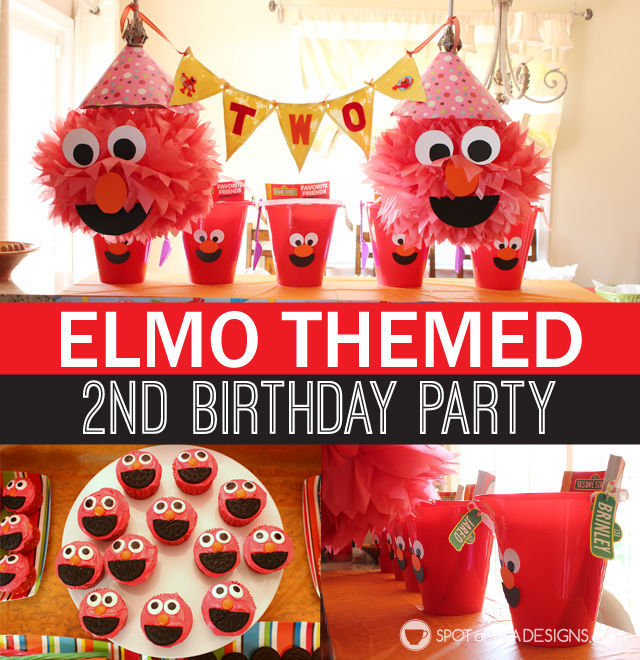 Elmo 2nd #Birthday #Party | spotofteadesigns.com