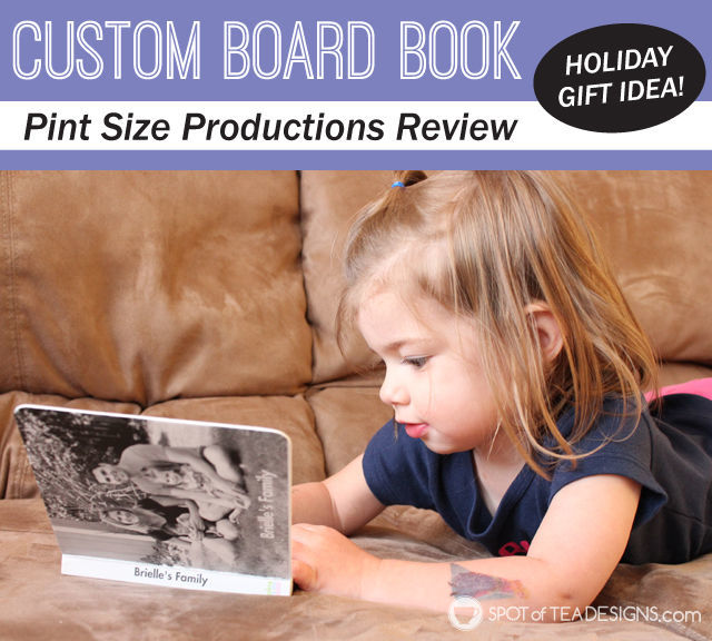 Custom Board Book from @Pintsizebooks Perfect #gift for a #toddler | spotofteadesigns.com