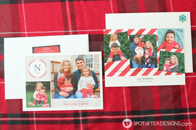Monogram #Christmas Cards from @Shutterfly | spotofteadesigns.com