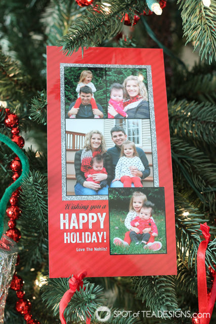 Black, Red and Silver #Christmas Photo Cards from @Shutterfly | spotofteadesigns.com