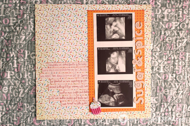 Hailey's First Year - Baby #Scrapbook - #GenderReveal ultrasound | spotofteadesigns.com