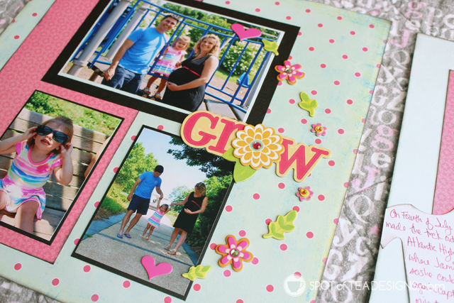 Hailey's First Year - Baby #Scrapbook - #Maternity Photos | spotofteadesigns.com