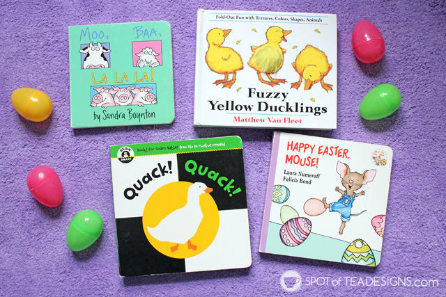 Non Candy Easter Basket Ideas for a Toddler - Easter books | spotofteadesigns.com