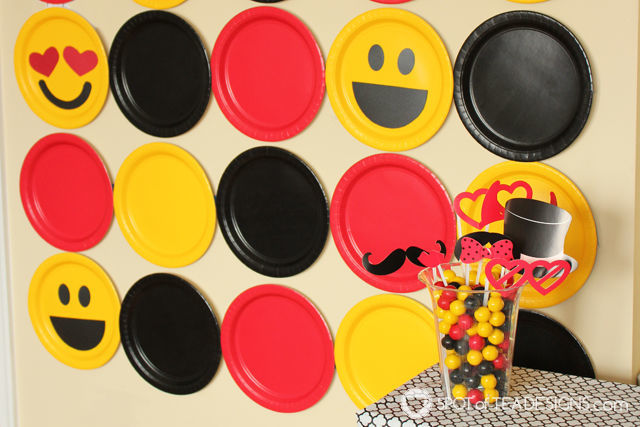 Party Styling Tips & Tricks - #partyplanning Paper plate background   spotofteadesigns.com