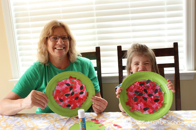 Watermelon contact paper #KidsCraft perfect for summer! | spotofteadesigns.com