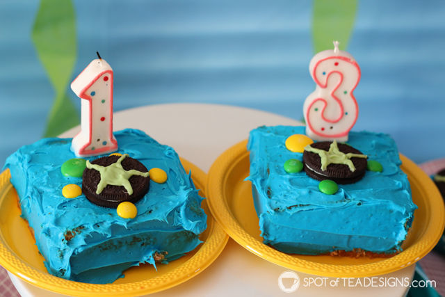 Turtle Smash Cakes made with oreos and M&Ms for Under the Sea #Birthday #Party | spotofteadesigns.com