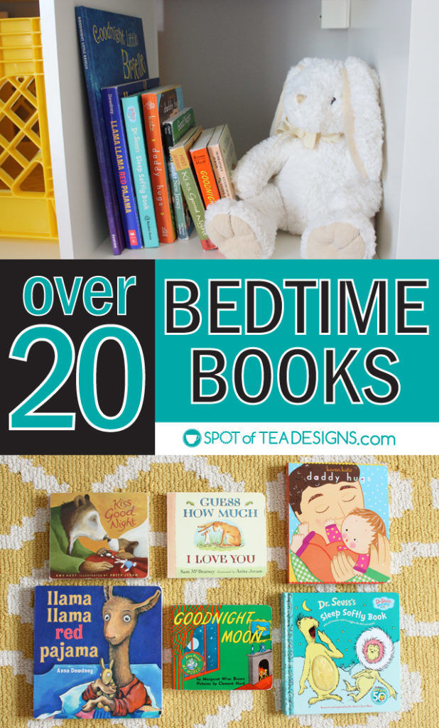 Over 20 bedtime books for kids #reading #earlylearning | spotofteadesigns.com