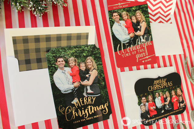 Truly Custom Holiday Cards from @BasicInvite (including gold and silver foil options!) | spotofteadesigns.com