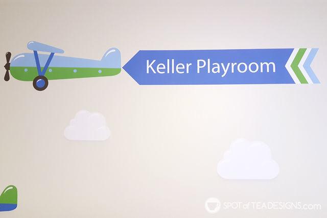 Transportation Themeds Boys Playroom - plane wall decal from @namebubbles | spotofteadesigns.com