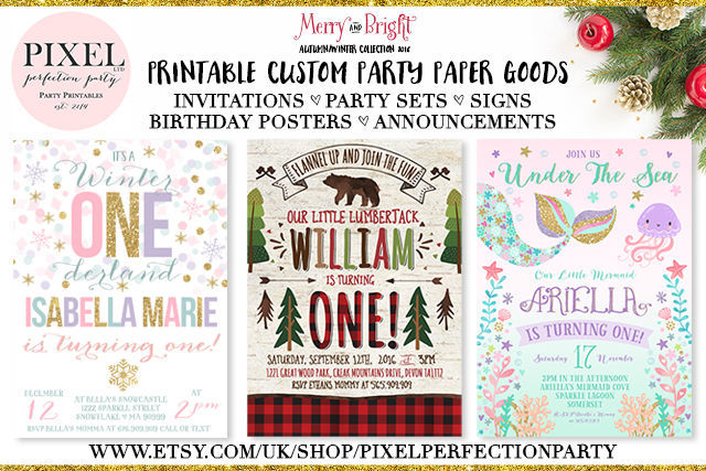 Pixel Perfection Party - printable custom paper party goods