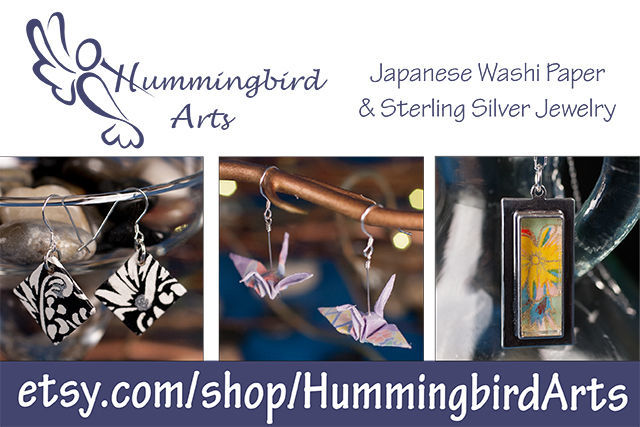 Etsy Shop Feature - Hummingbird arts - japanese washi paper and sterling silver jewelry