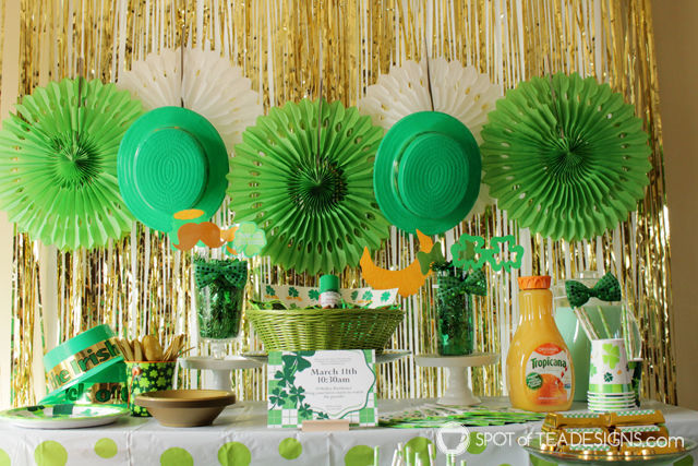 St Patricks Day Pre parade party, as featured on @birthdayinabox | spotofteadesigns.com