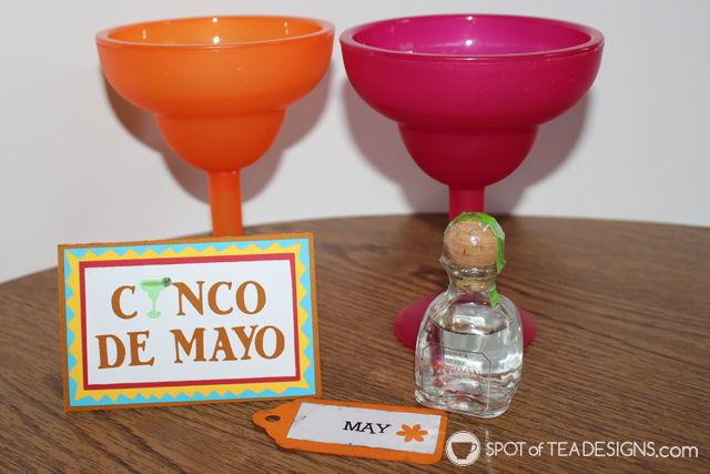 Year of Fun Dates Bridal Shower Gift - May kit to make margaritas for cinco de mayo | spotofteadesigns.com