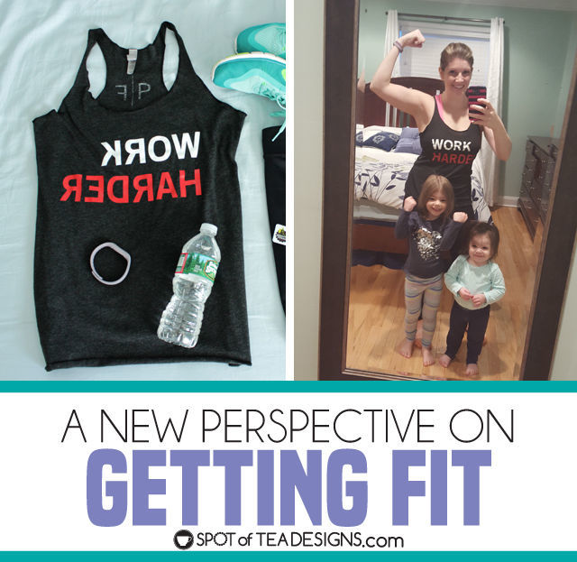 A new perspective on getting fit featuring workout gear from @perspective_fit (mirrored text of positive messages that you read when working out) | spotofteadesigns.com
