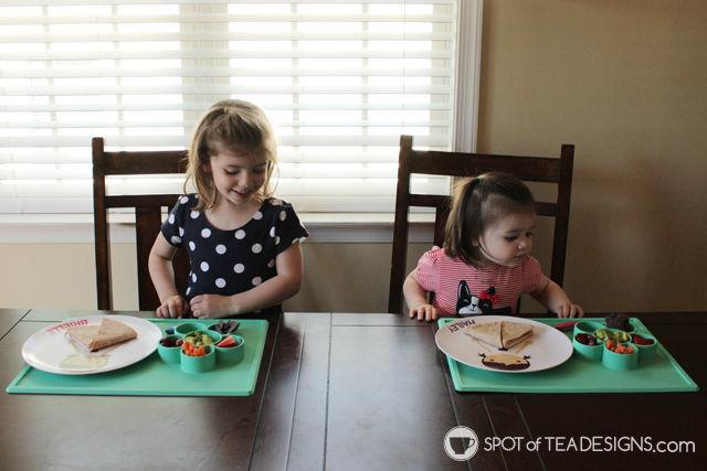 3 hands on activities for toddlers featuring an EZPZ Flower play mat | spotofteadesigns.com
